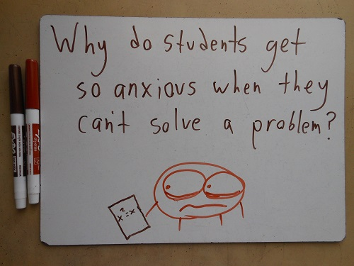 And why do they get so problematic when they can't solve an anxiety?
