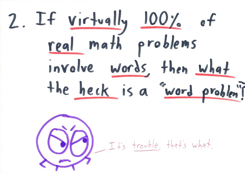 The Word Problem Problem Math With Bad Drawings