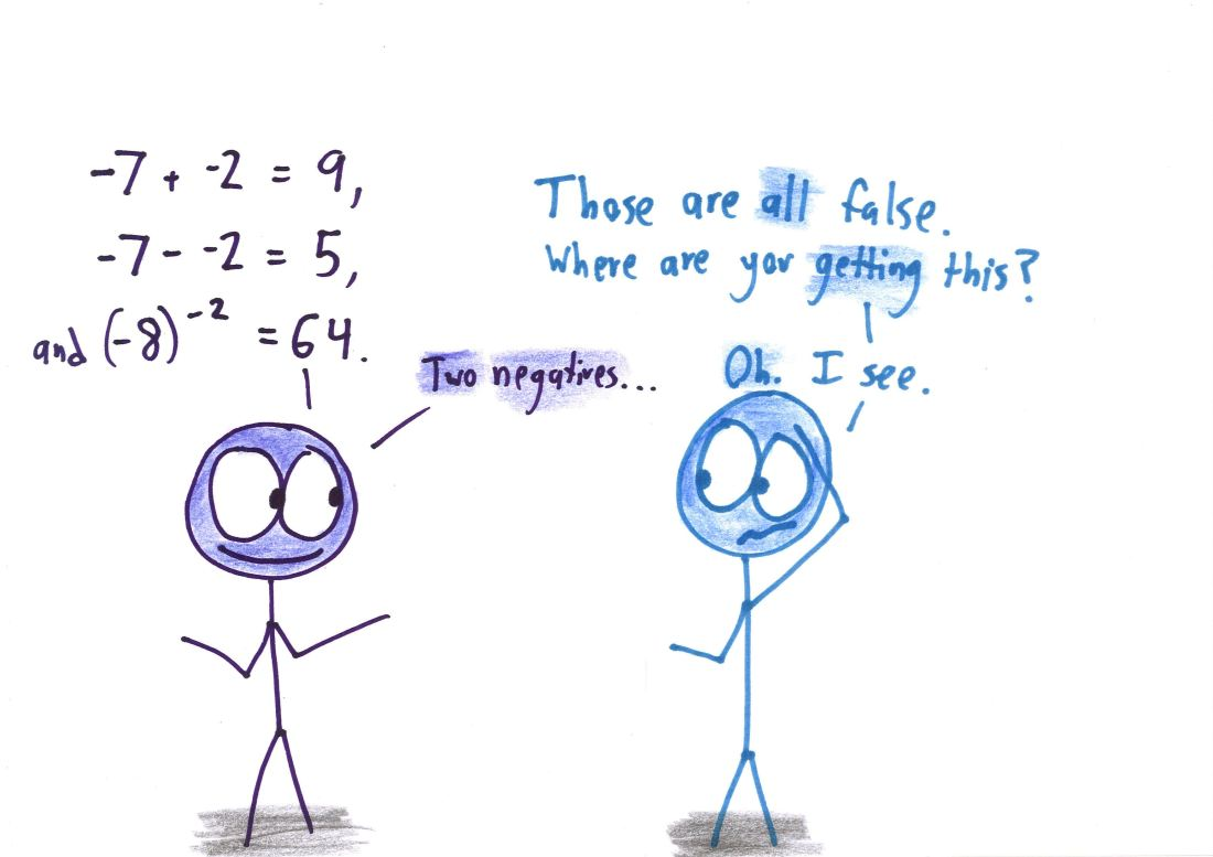 The Catchy Nonsense Of Two Negatives Make A Positive Math With