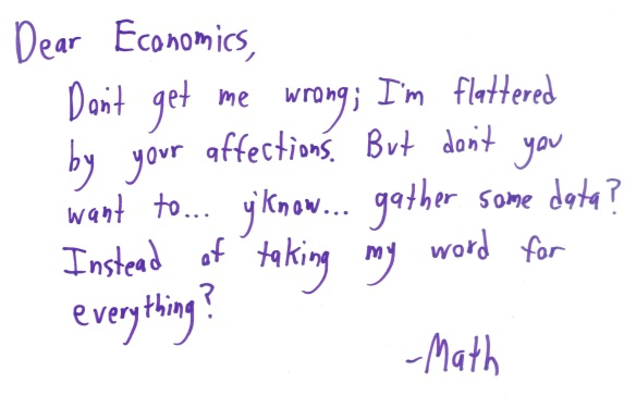 if math wrote letters