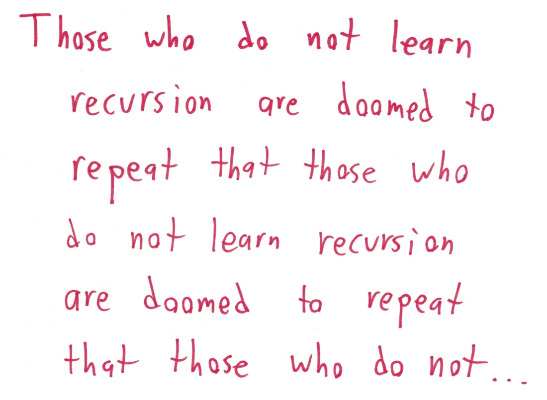 2017.11.9 those who do not learn recursion