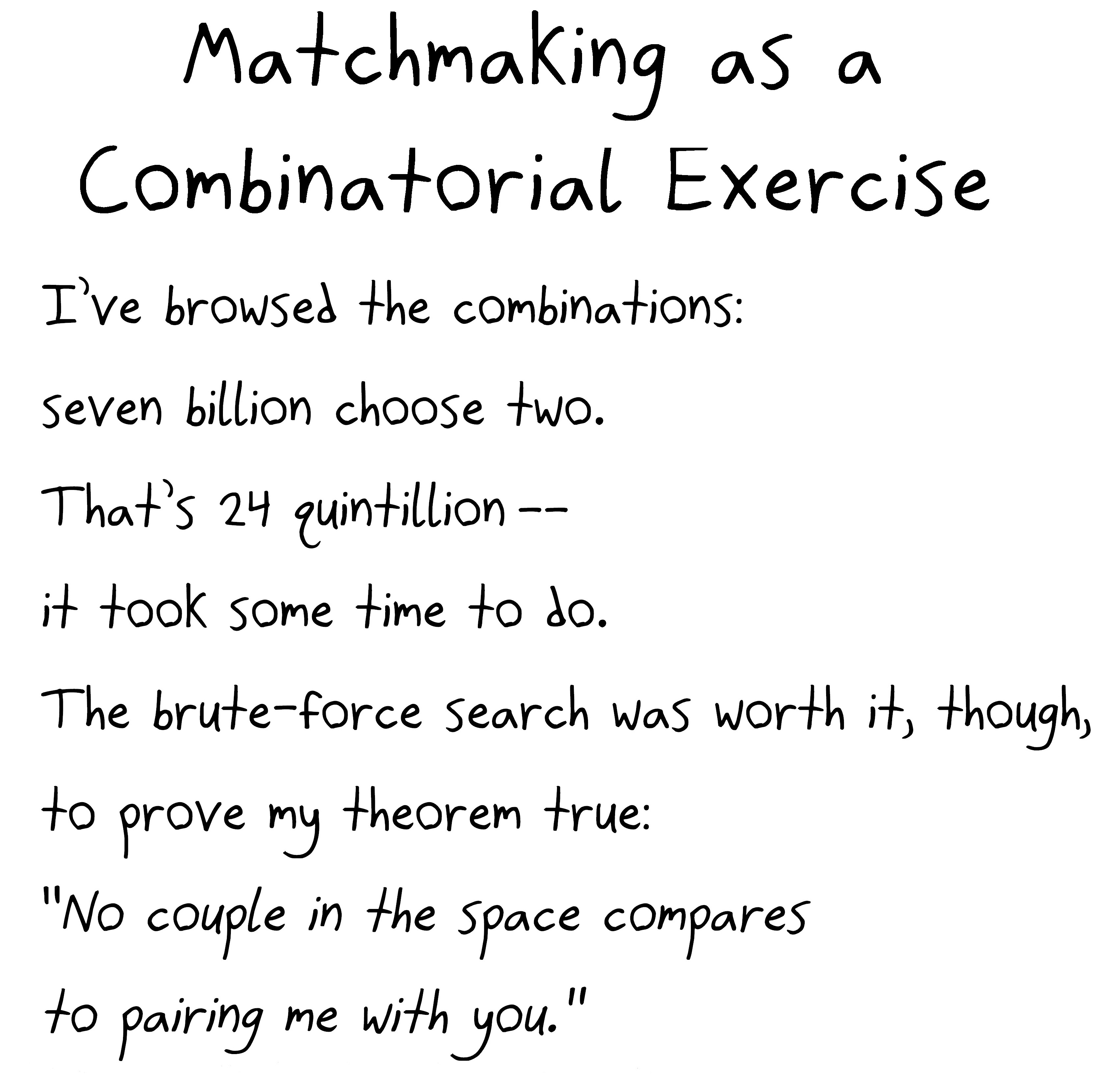 Matchmaking poems