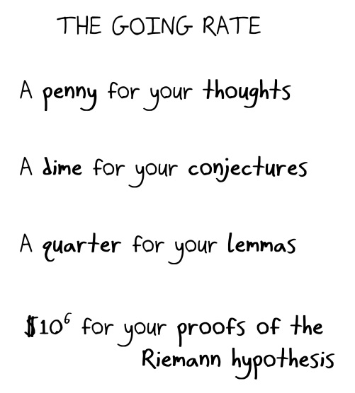 2018.4.26 the going rate for thoughts