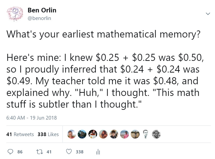 your earliest mathematical memory math with bad drawings