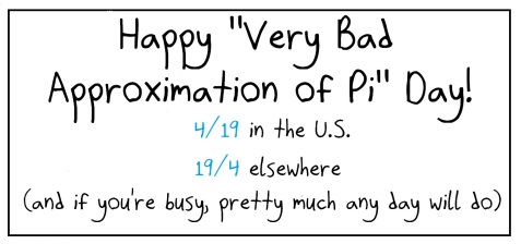 2019.4.19 bad pi approximation day